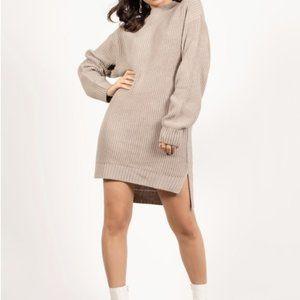 TOBI Gray Sweater Dress